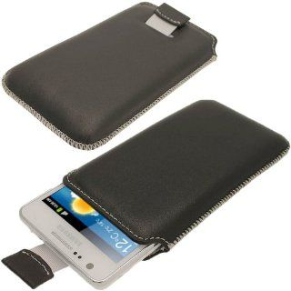 iGadgitz Black Luxury Genuine Leather Pouch Case Cover for Samsung Galaxy S2 i9100 Android Smartphone Cell Phone. SUITABLE FOR AT & T MODEL ONLY (model number SGH I777). Cell Phones & Accessories