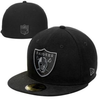 New Era Oakland Raiders Basic 59FIFTY Fitted Hat   Black/Gray