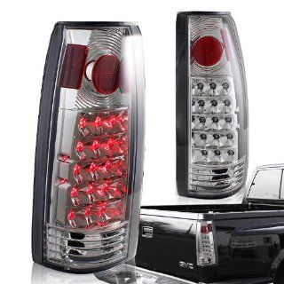1988   1998 Chevy/GMC C10 Truck Chrome Housing Clear Lens Altezza Style Rear Tail Lights Automotive