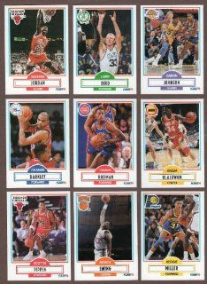 1990 / 1991 Fleer Basketball Series Complete Mint Hand Collated 198 Card Set Including Michael Jordan, Larry Bird, Kevin Mchale, Robert Parish, Dennis Rodman, Scottie Pippen, Akeem Olajuwon, Reggie Miller, Magic Johnson, Patrick Ewing, Charles Barkley, Cly