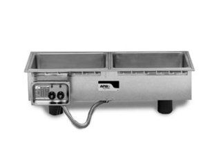 APW Wyott HFWS 3D Drop In Hot Food Well Unit w/ Drain, 3 Pan Size, Slim Line, 208/240/1 V, Each Kitchen & Dining