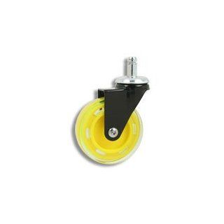 Cool Casters   Profile Chair Caster, Yellow Wheel, Black Yoke, Friction Ring No Brake   Item #200 75 YL BL FR NB