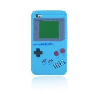 HJX Baby Blue Silicone Gameboy Case + Random Color Pouch for Ipod Touch 4 Cell Phones & Accessories