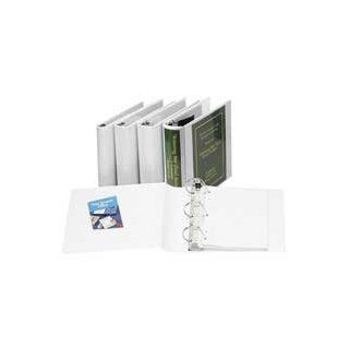 "Samsill Corporation Products   D Ring Binder, Insertable, 1"" Cap, 11""x8 1/2"", White   Sold as 1 EA   View binder offers patented Flexaround, curved spine construction to prevent top loading sheet protectors and indexes from extending outside"