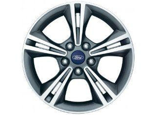 Oem Ford Factory Stock 2012 12 2013 13 Focus Gray Starburst 16'' Aluminum Rim Wheel with Center CAP & LUG Nuts Kit Automotive