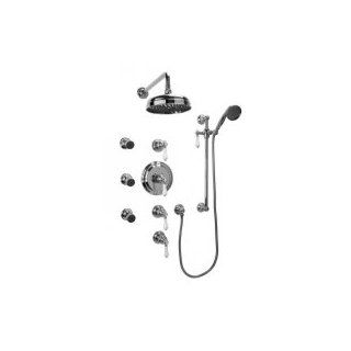 Graff GA1.222B LC1S PC Universal Traditional Thermostatic Set with Body Sprays and Handshower (Rough and Trim)