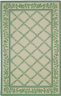 "Safavieh Chelsea Hk230B 7'9"" x 9'9"" Ivory / Light Green Area Rug"