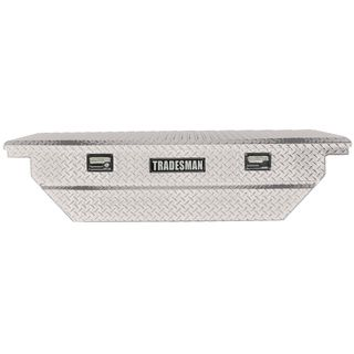 63 Inch Silver Low Profile Aluminum Cross Bed Truck Tool Box Tradesman Truck Auto Exterior Accessories