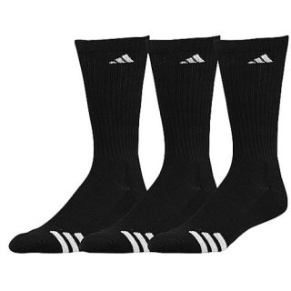adidas 3 Stripe 3 Pack Crew Socks   Mens   Training   Accessories   Black/White
