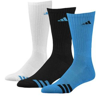 adidas 3 Stripe 3 Pack Crew Socks   Mens   Training   Accessories   Solar Blue/White/Black
