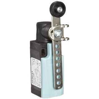 Siemens 3SE5 232 0HK50 Mechanical Position Switch, Complete Unit, Plastic Enclosure, 31mm Width, Twist Lever, Adjustable Length, Metal Lever, 19mm Plastic Roller, Snap Action Contacts, Integrated, 1 NO + 1 NC Contacts
