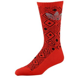adidas Originals Geometric Crew Socks   Mens   Casual   Accessories   Light Scarlet/Black/Tech Grey