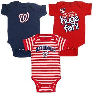 Washington Nationals 3 Pack Boys Huge Fan Creeper Set by Soft as a Grape Sports & Outdoors