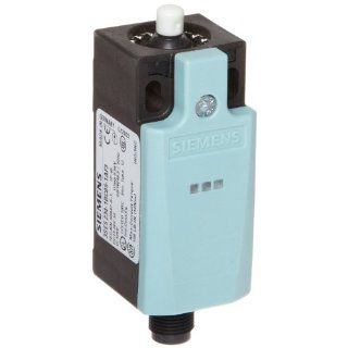 Siemens 3SE5 234 1BC05 1AF3 Mechanical Position Switch, Complete Unit, Plastic Enclosure, 31mm Width, Rounded Plunger, M12 Connector Socket, 5 Pole, 2 LEDs, Slow Action Contacts, 1 NO + 1 NC Contacts, 24VDC LED Voltage Electronic Component Limit Switches
