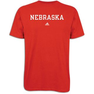 adidas College School Block T Shirt   Mens   Basketball   Clothing   Nebraska Cornhuskers   University Red