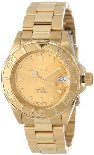 Invicta Men's 13929 Pro Diver Automatic Gold Dial 18k Gold Ion Plated Stainless Steel Watch Invicta Watches