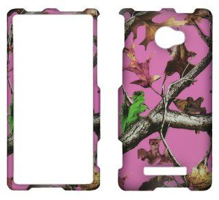 Pink Advantage Tree Windows Phone 8x By HTC At&t Smartphone faceplate cover p Cell Phones & Accessories