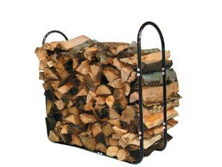 "4' Outdoor/indoor Firewood Wood Log Steel Rack Holder 41"" X 44"" X 13"" Half Cord   Firewood Box"
