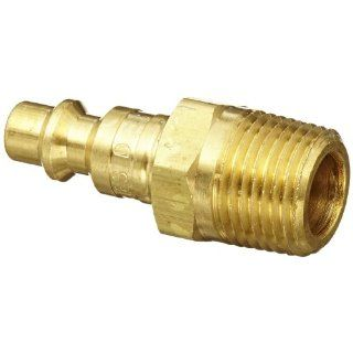 "Dixon Valve DCP2103B Brass Air Chief Industrial Interchange Air Fitting, Quick Connect Plug, 1/4"" Coupler x 3/8"" NPT Male Thread, 37 CFM Flow Rating"