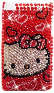 HELLO KITTY Apple iPod Touch 4th Generation Rhinestones Bling BACK PIECE Case (#5) + FREE WirelessGeeks247 Detachable Neck Strap / Lanyard
