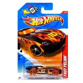 Hot Wheels   Fast Felion (Black W/Flames)   Thrill Racers, Volcano 12   4/5 ~ 204/247 [Scale 164] Toys & Games