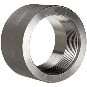 304/304L Forged Stainless Steel Pipe Fitting, Half Coupling, Class 3000, NPT Female