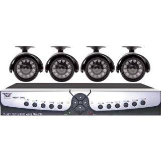 Night Owl Security APOLLO 45 4 Channel H.264 DVR Surveillance Kit with 4 Color Indoor/Outdoor Night Vision Cameras and D1 Recording  Complete Surveillance Systems  Camera & Photo