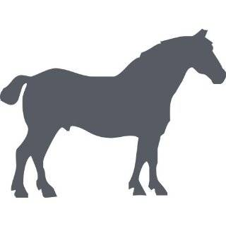 ThatVinylPlace 20 Cm Heigth By 20 Cm Max Dark Gray Horse Sticker, Vinyl, Decal, Car, Boat, Jokey, Pony, Horse, Tattoo, Car Decal, Car Sticker, Wall Sticker, Door, Window, Patio, Bedroom, Room, Kitchen _0032