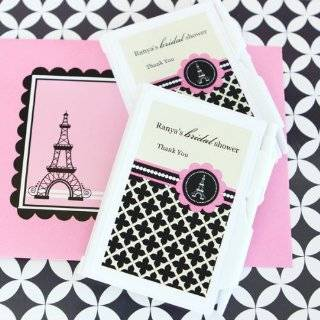 96PC EB2023PP Personalized Notebook Favors Parisian Party Wedding Baby Shower Fa Health & Personal Care