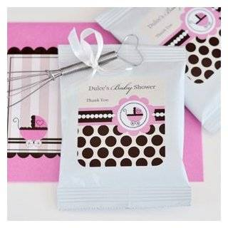 72PC EB2003BP Personalized Hot Cocoa + Whisk Baby Pink Wedding Baby Shower Favor Health & Personal Care