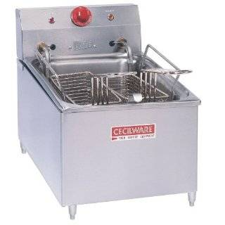 "240 Volts Cecilware EL 270 Stainless Steel Commercial Countertop Electric Deep Fryer with 4"" Legs an Kitchen & Dining"