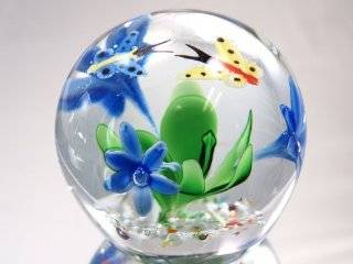 Murano Design Mouth Blown Glass Butterfly Series Crystal Handmade Art Glass Paperweight Pw 271   Home Decor Products
