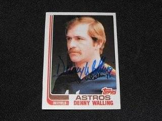 Houston Astros Denny Walling Signed Autograph 1981 Topps Card #147 TOUGH Q Sports Collectibles