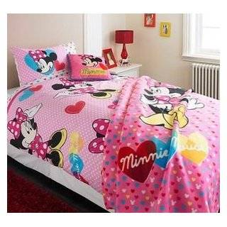 My GN. Pink Girls Disney Minnie Mouse Reversible Duvet Cover Set Cot Bed Nursery BNIP Baby
