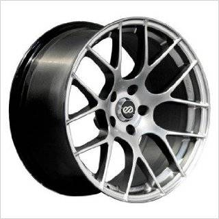 Enkei Raijin 18x9.5 35mm Inset 5x120 Bolt Pattern 72.6 Bore Diameter Hyper Silver Wheel Automotive