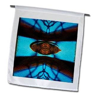fl_55881_1 Jos Fauxtographee Abstract   Chain Link and a Hummingbird Feeder Make This Cool Shape in Brown and Blue   Flags   12 x 18 inch Garden Flag  Wild Bird Feeders  Patio, Lawn & Garden