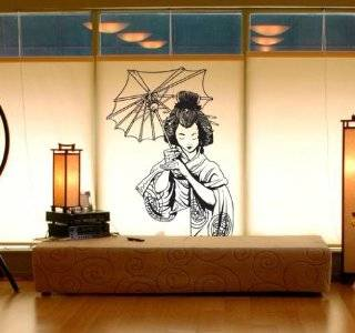 "Vinyl Wall Art Decal Sticker Japanese Geisha 20""x32"" Asian Decor #295 Automotive"