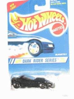 Dark Rider Series #3 Silhouette 2 6 Spoke Wheels Black base #299 Collectible Collector Car Mattel Hot Wheels Toys & Games