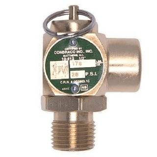 "Apollo Valve 10 512 Series Brass Safety Relief Valve, ASME Steam, 25 psi Set Pressure, 1/2"" NPT Male x Female"
