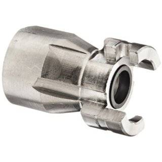 "Dixon Valve PF12SS Stainless Steel 303 Dual Lock Air Fitting, Quick Acting Coupler, 1/2"" Coupling x 3/4"" NPT Female Thread"