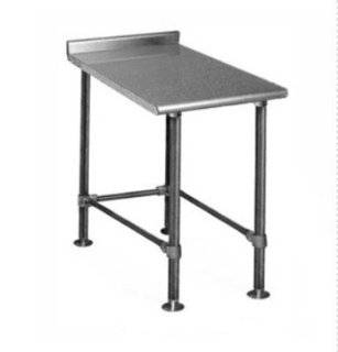 Eagle Group UT2418STEB X Filler Table   16/304 Stainless Top & Crossrails, 18x24, Each   Cookware