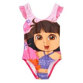 Dora the Explorer Toddler Girls Swimsuit (18 Months) Clothing