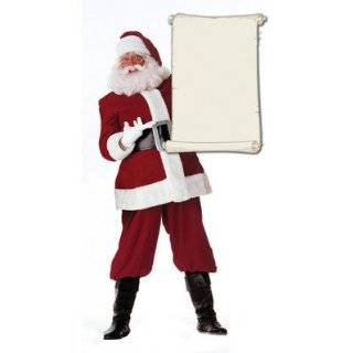 Santa Claus with Scroll Life Size Cardboard Stand Up Type Nomad Removable Wall Sticker   Lifesize   Nursery Wall Decor