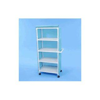 1116353 Linen Cart w/Cover Wedgewood Ea Healthline Medical  LC324W4WDGWD