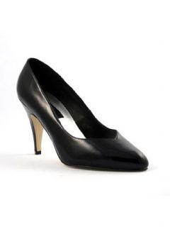 Sexy 4 Inch Wide Black High Heel Pump   12 Clothing