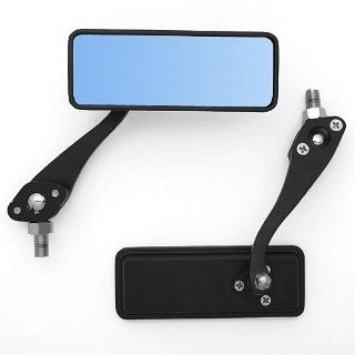 Unique Billet Black Motorcycle Side Anti glare Blue Mirrors For Kawasaki Ninja 250 500 ZX600 6R 10R 12R 14 RR Yamaha yzf 250 600 1000 YZF R6 YZF R1 Honda Shadow Spirit 750 ACE Deluxe Sabre Automotive
