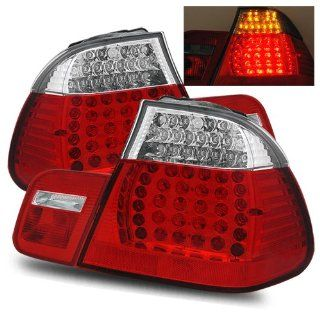 BMW 328Ci Red Clear LED Tail Lights   Fits Base Coupe 2 Door Automotive