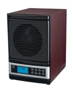 MicroLux ML4000DCH 7 Stage UV Ion Air Purifier with Remote, Cherry Wood Finish   Hepa Filter Air Purifiers