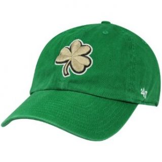 NCAA '47 Brand Notre Dame Fighting Irish Clean Up Clover Adjustable Slouch Hat   Kelly Green Clothing