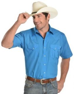 Ely Cattleman Men's Dark Turquoise Classic Western Shirt Big And Tall at  Men�s Clothing store